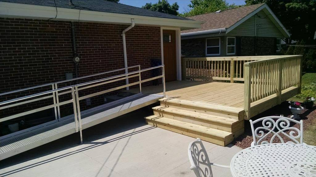 Handicap Accessible ramp added to this home in Brookfield, WI